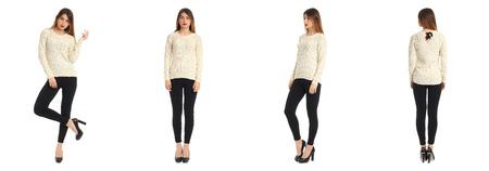 Leggings mit Oversize Pullover