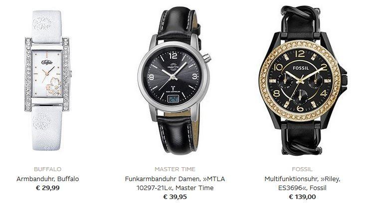 Schwarz weiß Uhren