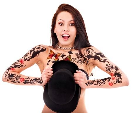 Tattoos über der Brust