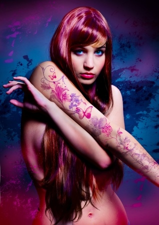 Tattoos in pink