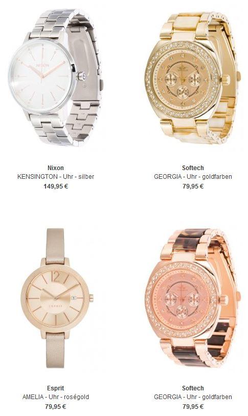 Uhren in Silber, Rosé und Gold
